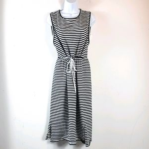 Merona Nautica Style Black/White Sleeveless Dress